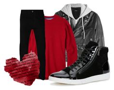 """""""Valentine's Day! <3"""" by bubbythenarwhal ❤ liked on Polyvore featuring Dsquared2, Mountain Khakis, Calvin Klein, Gucci, men's fashion and menswear"""