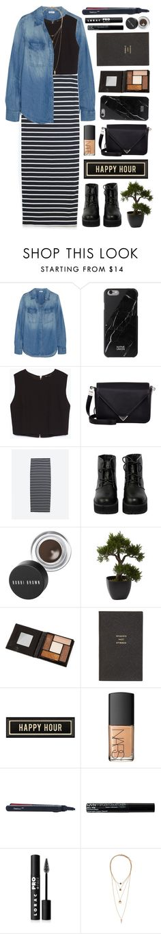 """Happy Hour"" by yen-and-len ❤ liked on Polyvore featuring Splendid, Native Union, Zara, Alexander Wang, The WhitePepper, Bobbi Brown Cosmetics, Nearly Natural, Smythson, Spicher and Company and NARS Cosmetics"