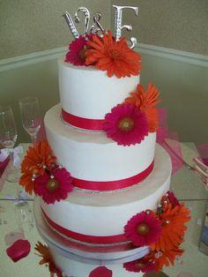gerbra daisy cakes | Gerbera Daisy Wedding Cake — Round Wedding Cakes