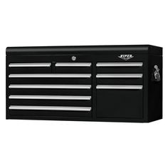 The Original Pink Box – Black 41 Inch 9-Drawer Top Chest