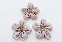 Dusty Pink Flowers Handmade Appliques by BizimSupplies on Etsy, $12.00