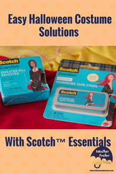 Easy Halloween Costume Solutions With Scotch™ Essentials ad Sweater Pilling, Scottish Clothing, New Halloween Costumes, Scotch Tape, Parenting Articles, Anchor, Essentials, Weather, Kids