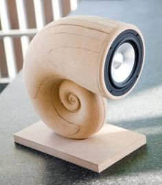 The Snail - a CNC milled full range speaker (still not finished) Check out…