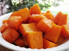 Caramelized Butternut Squash (Ina makes it sound easy to peel and cube this stuff-it isn't but I love it!)