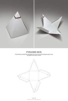 Pyramid Box - Packaging & Dielines: The Designer's Book of Packaging Dielines by Velid Agovic Packaging Dielines, Tea Packaging, Paper Packaging, Packaging Design, Packaging Nets, Candle Packaging, Retail Packaging, Diy Gift Box, Diy Box