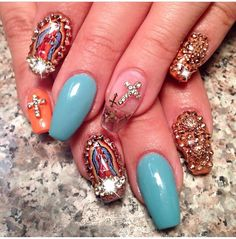 The Virgin Mary nails #ChachaCovers #DailyChams