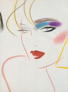 Illustration for 'Playboy' magazine, - Fashion Illustration by David Croland (b. Retro Art, Vintage Art, Art Sketches, Art Drawings, 1980s Art, Art Deco, Wave Art, Airbrush Art, Amazing Drawings