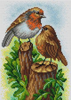Santa Cross Stitch, Cute Cross Stitch, Cross Stitch Bird, Cross Stitch Samplers, Cross Stitch Animals, Modern Cross Stitch, Cross Stitch Flowers, Cross Stitching, Cross Stitch Patterns Free Easy