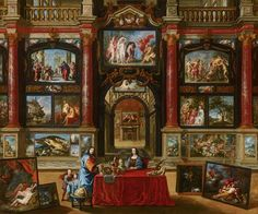 Interior with Figures in a Picture Gallery