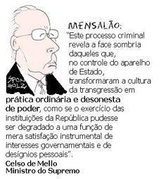 Ministro Celso de Mello sobre o Mensalão