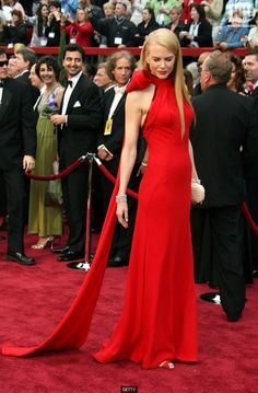 One of my favorites ever! Nicole Kidman's gorgeous red gown with the amazing big red bow!