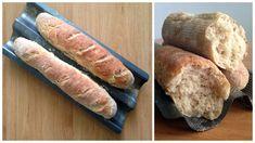 Chrumkavé, pšenično-ražné bagety – FOOD REVOLUTION SLOVAKIA Bread, Food, Revolution, Basket, Brot, Essen, Baking, Meals, Breads