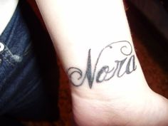 My first tattoo. My niece's name. My life