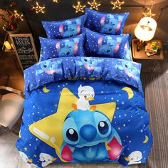 Disney Lilo and Stitch Comforter Cover Bedding Set Full Size Duvet Cover, Comforter Cover, Duvet Cover Sets, Comforter Sets, King Comforter, Pillow Covers, Blue Bedding Sets, Queen Bedding Sets, Lilo Stitch