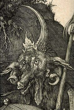 Albrecht Dürer, detail of larger engraving Knight Death and the Devil