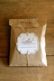 packaging: brown sandwich or craft bag, two hole punches, baker's twine and a cute to-from tag