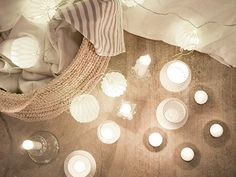 @Erin Loechner's fort, illuminated by our Perforated Votives. #serenaandlily