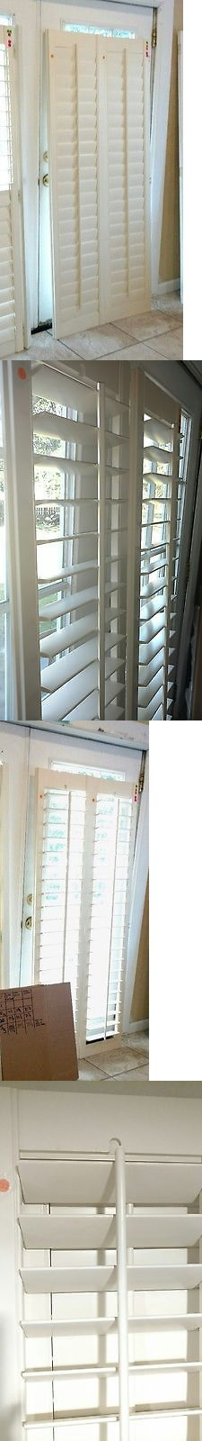 Shutters 66799: Interior Solid Wood Plantation Shutters 3.5 Louvers White  Linen 30.5 W 70.25 New