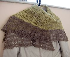 Porcelain Berry Shawl Triangular shl01 by AlpachHandMade on Etsy, $125.00