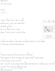 One Direction 18 Guitar Chords