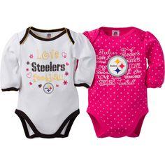 Pittsburgh Steelers Newborn Coverall Booties /& Teddy Bear Set Hat