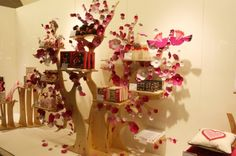 A chocolate display in the form of a cherry blossom tree! Awesome!