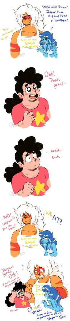 Gem Reproduction: this is an old joke in the SU community, but this is just too damn cute.