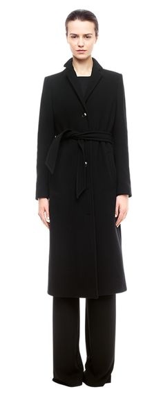 5f8335d61937 Farah Belt Coat - Outerwear - Woman - Filippa K Monochrom, Mantel Mit  Gürtel,