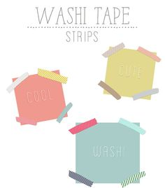 Digital Washi Tape Clip Art, $5