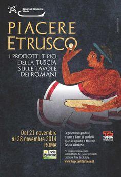 Sapete che gli Etruschi erano dei veri buongustai? Se volete sapere quanto...ci vediamo a Roma dal 21 al 28 novembre!  http://www.tusciawelcome.it/…/widget…/piacere-etrusco_44.htm #ScoprirelaTuscia #LazioisM