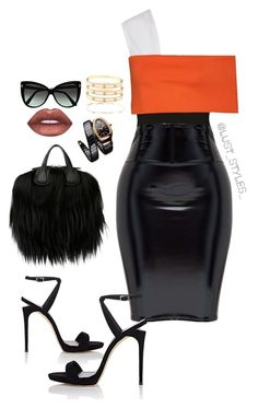 """""""Untitled #199"""" by smackthatash on Polyvore featuring Rosetta Getty, Giuseppe Zanotti, Givenchy, Tom Ford, Lime Crime, Bulgari, Loren Stewart and Cartier"""