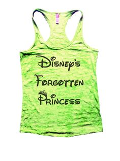Disney's Forgotten Princess Burnout Tank Top By Funny Threadz - 804