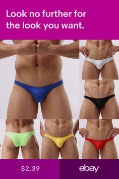 52417fc67e1 Men Bulge Pouch Boxer Briefs Shorts Thongs Underwear Breathable Trunks  Underpant