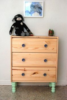IKEA RAST hack with legs how to