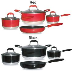 @Overstock - Bring out the best in your kitchen meal after meal with this modern design non stick cookware set. This pans have a heavy gauge aluminum core that conducts and distributes heat evenly for phenomenal results.http://www.overstock.com/Home-Garden/Gourmet-Chef-Induction-Ready-7-piece-Non-stick-Cookware-Set/6995842/product.html?CID=214117 $69.99