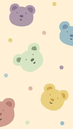 Pastel Background Wallpapers, Cute Pastel Wallpaper, Soft Wallpaper, Bear Wallpaper, Cute Wallpaper For Phone, Iphone Background Wallpaper, Cute Backgrounds, Kawaii Wallpaper, Galaxy Wallpaper