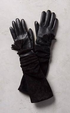 Tasseled Leather Gloves #anthroregistry