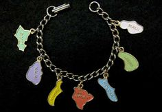 Vintage Childs Charm Bracelet Islands of by LilBlackDressVintage, $15.00
