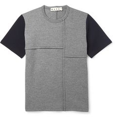 Marni - Two-Tone Wool-Blend Jersey T-Shirt | MR PORTER