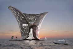 The Apeiron Island Hotel Project, Dubai. 7 star luxury above and underneath the water. Magical