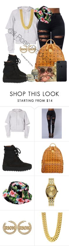 """Untitled #552"" by lil-rose-productions ❤ liked on Polyvore featuring Maurie & Eve, adidas, MCM and Nixon"