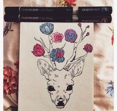 Flower  Deer  ❤️