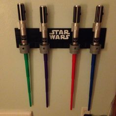 Star Wars Light Saber holder: made with molding and pipes.