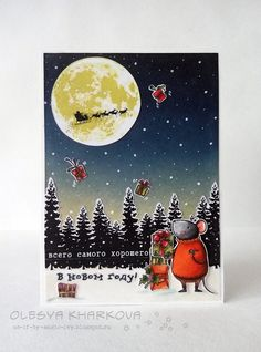 altenew-to-the-moon-mft-harvest-mouse-cardmaking-christmas-card-Olesya-Kharkova