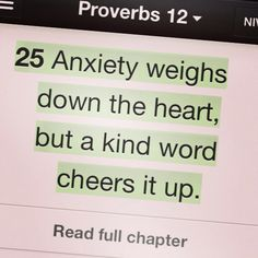 Awesome Bible Verse / Worry