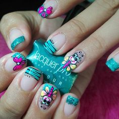 Viviana Love Nails, Fun Nails, Pretty Nails, Nail Art Designs Videos, Fingernail Designs, Spring Nails, Summer Nails, Nails 2017, Nails First