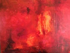 Mostly red 36x40 Mixed medium Paddy Lynn Mccavour