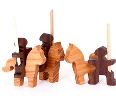 Knights & Horses Play Set made from Ash and Walnut $21