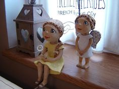 Krásný den přeji Pottery Angels, Handmade Angels, Ceramic Angels, Ooak Dolls, Fairy, Sculpture, Statues, Biscuit, Cute
