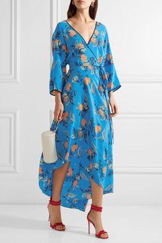 Diane von Furstenberg - Asymmetric Wrap-effect Floral-print Maxi Dress - Blue - large